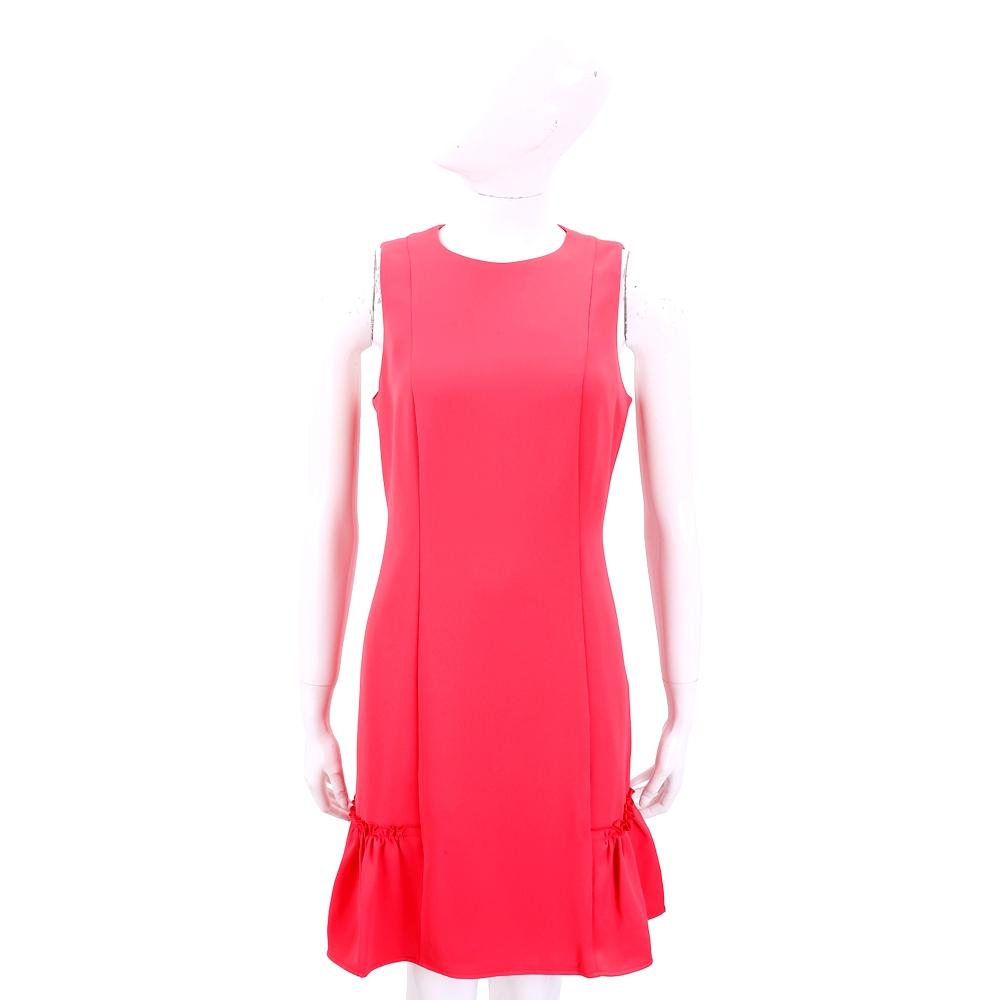 Michael Kors 荷葉襬設計紅色背心洋裝