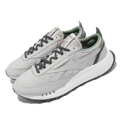Reebok 休閒鞋 CL Legacy 運動 男女鞋 海外限定 情侶款 厚底 舒適 皮革 穿搭 灰 綠 FY7555