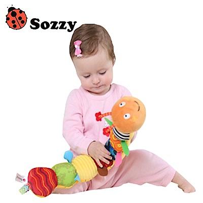 SOZZY嬰兒益智毛絨玩具多功能音樂毛毛蟲身高尺