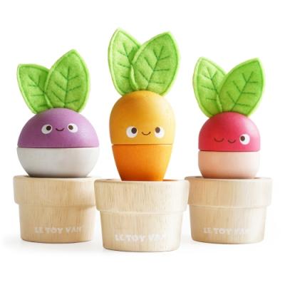 英國 Le Toy Van- Petilou系列啟蒙玩具系列-蔬菜猜猜猜啟蒙玩具
