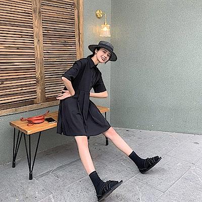 韓國空運 彈性連身裙(短款)-2色-TMH