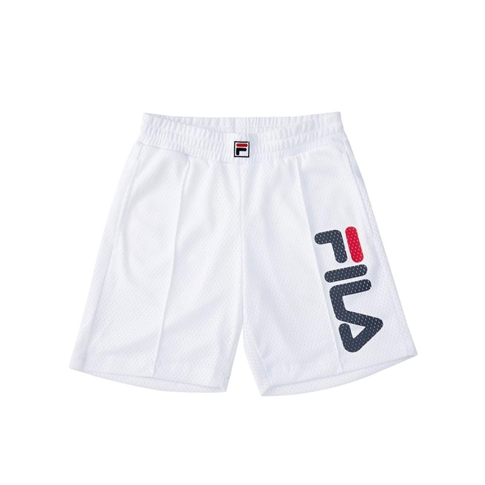 FILA KIDS #架勢新潮 童五分褲-白色 1SHV-4408-WT