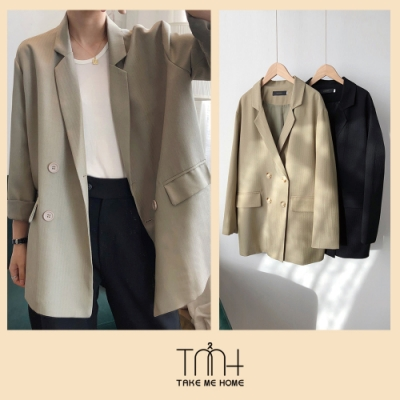 高質感人字紋西裝外套-2色-TMH
