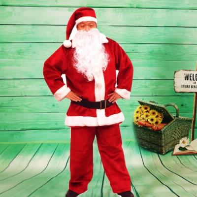 樂活e棧-聖誕節MIT豪華加厚禦寒版-聖誕老人服裝(豪華5件套組)