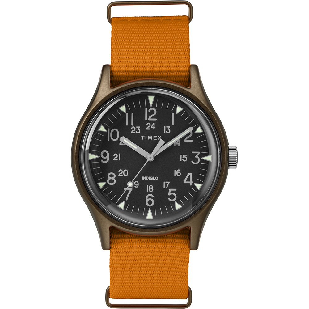 TIMEX 天美時 MK1 潮流軍錶-黑x橘/40mm