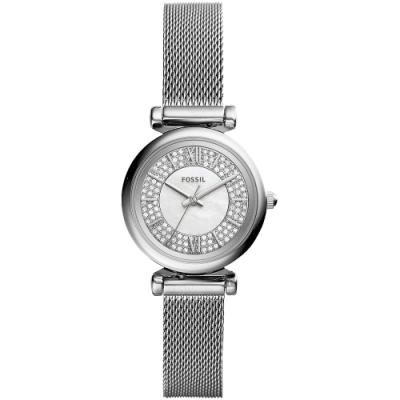 FOSSIL Mini 晶鑽小錶徑米蘭女錶(ES4837)-28mm
