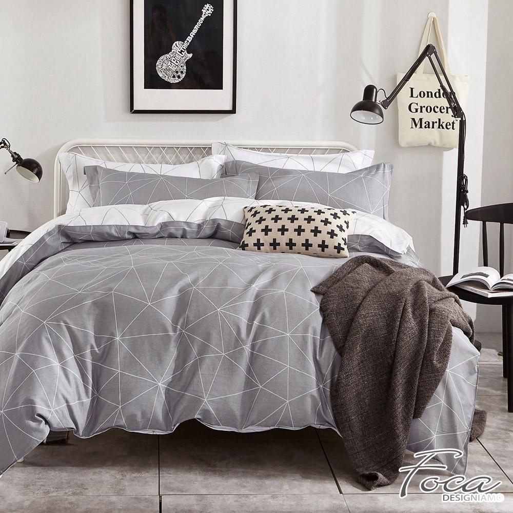 FOCA日光傾城-加大-100%精梳純棉四件式兩用被床包組