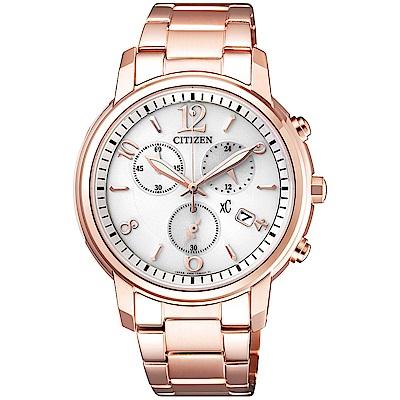 CITIZEN xC 自信俏麗光動能時尚計時女錶(FB1432-55A)-38mm