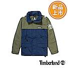 Timberland 男款藍綠拼接防風連帽外套