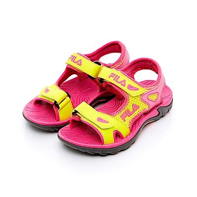 FILA KIDS 中童MD運動涼鞋-黃桃 2-S430T-292
