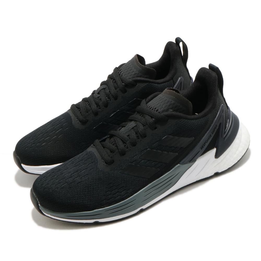 adidas 慢跑鞋 Response Super 女鞋 愛迪達 路跑 緩震 輕量 透氣 穿搭 黑 白 FX4833