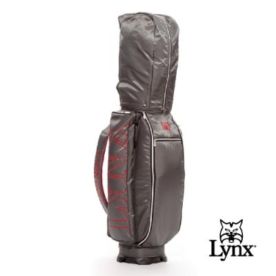 【Lynx Golf】Lynx刺繡輕量9吋口徑四口球桿袋-鐵灰色