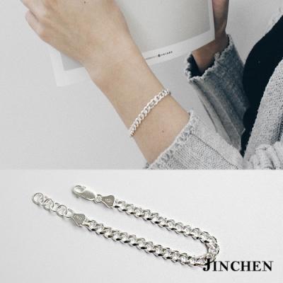 JINCHEN 純銀粗鍊條手鍊
