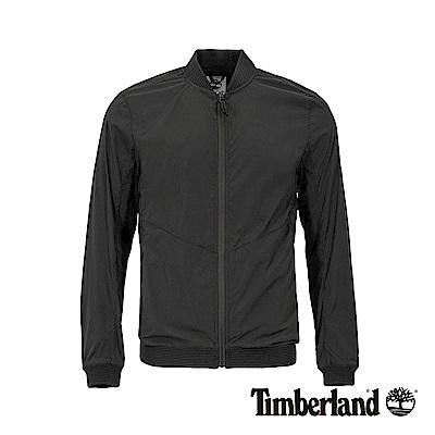 Timberland 男款黑色立領可收納飛行外套|A1OLD