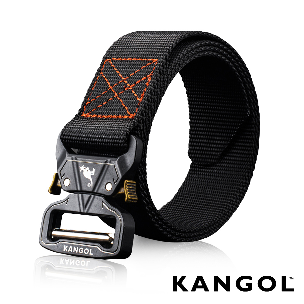 KANGOL EVOLUTION系列 英式潮流休閒自動釦皮帶-戰術黑 KG1181