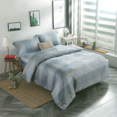 夢工場卡芙尼亞40支紗萊賽爾天絲四件式兩用被床包組-特大