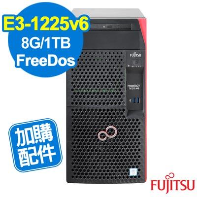 FUJITSU TX 1310  M 3  E 3 - 1225 v 6 / 8 G/ 1 TB/FD