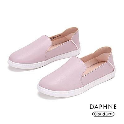 達芙妮DAPHNE 休閒鞋-經典原色百搭雲軟樂福鞋- 紫色