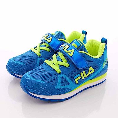 FILA頂級童鞋款 針織後穩定款 EI51Q-336藍綠(中童段)0