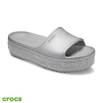 Crocs 卡駱馳 (中性鞋) 厚底卡駱班金屬涼拖 205913-041