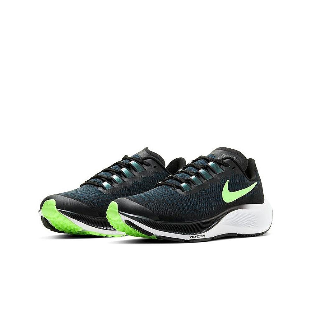 NIKE 健身 訓練 緩震 慢跑 運動鞋 女鞋 大童 黑綠 CJ2099001 AIR ZOOM PEGASUS 37 GS