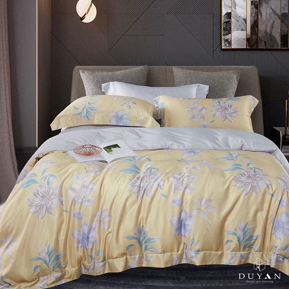 (均一價)DUYAN竹漾-3M吸濕排汗奧地利天絲-單/雙/大床包枕套組-多款任選 台灣製 (金色和弦)