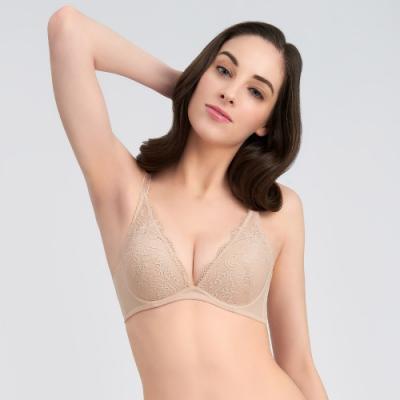 黛安芬-時尚嚴選系列 低V托高集中 B-C罩杯內衣 淺膚色