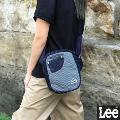 Lee 牛仔方型 斜背包 深藍色