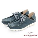 【CUMAR】極簡生活 - 兩穿式綁帶袋鼠休閒鞋-藍色
