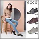 【限時領券折500】ECCO經典輕盈皮革休閒鞋 女-三色任選