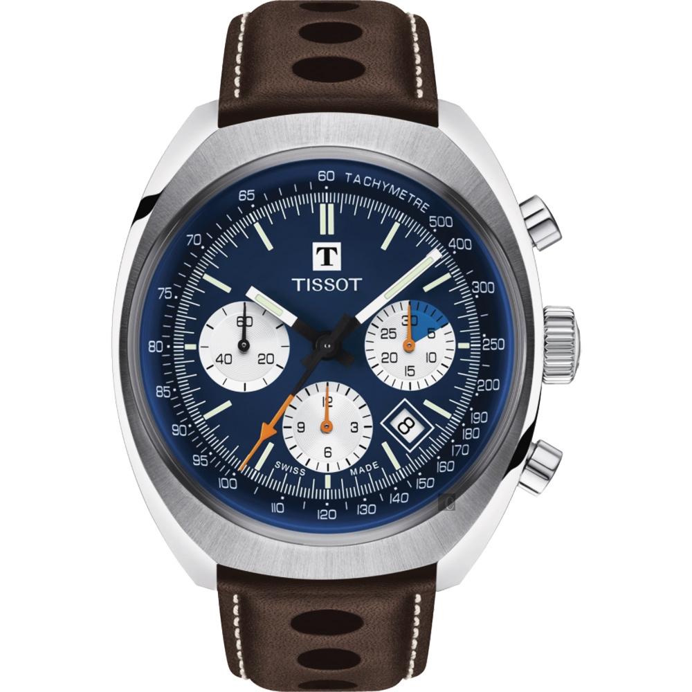 TISSOT天梭 Heritage 1973 機械手錶-43mm  T1244271604100
