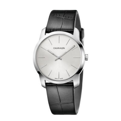 Calvin Klein CK簡約時尚皮帶腕錶(K2G221C6)37mm