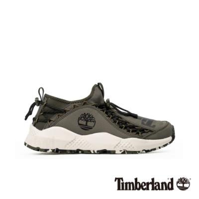 Timberland 男款NNH深綠色尼龍織物防潑水防汙運動鞋|A215B