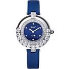 Ogival愛其華 流星系列-流光瀲灩珠寶錶-藍 380-45.1DLW