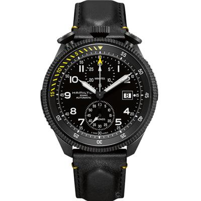 Hamilton 卡其黑鷹飛行員自動機械錶(H76786733)46mm