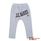 JJLKIDS 美式時尚字母哈倫褲(麻灰)