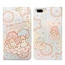 三麗鷗授權 iPhone 8 Plus/7 Plus 粉嫩系列彩繪磁力皮套(花圈)