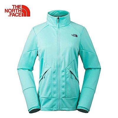 The North Face北面女款薄荷綠舒適保暖女抓絨外套|3L9GN2P