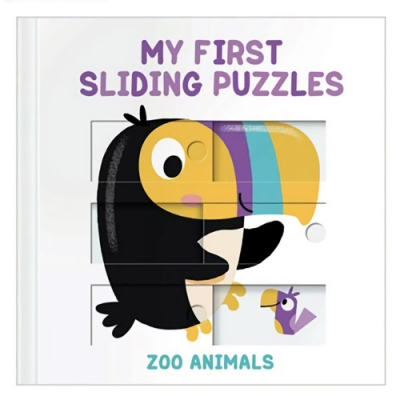 My First Sliding Puzzles:Zoo Animals 拼圖操作書:動物園篇