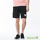 bossini男裝-印花輕便短褲01黑
