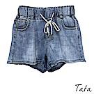 淺色鬆緊腰繫帶短褲 TATA