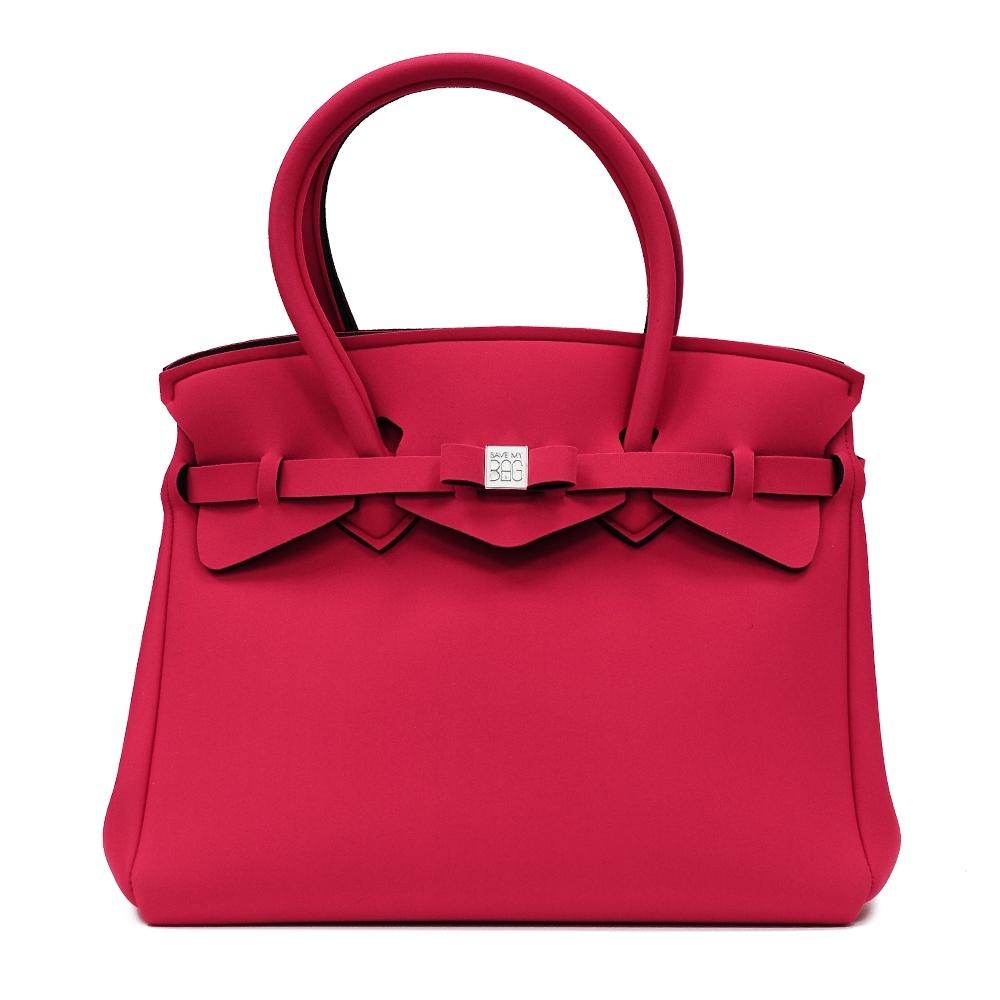 SAVE MY BAG 義大利品牌 MISS PLUS升級版 亮紅色超輕量拉鍊手提托特包