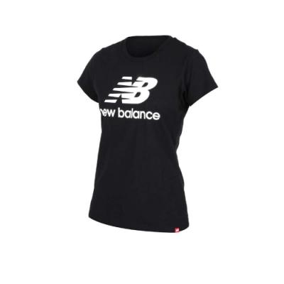 NEWBALANCE 女 短袖T恤 NEW BALANCE 黑白