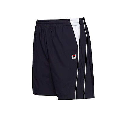 FILA 男款平織短褲-丈青 1SHT-1004-NV