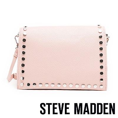STEVE MADDEN-BPOSH 個性鉚釘經典劍橋包-粉色