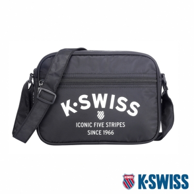 K-SWISS KS Logo Shoulder Bag 2休閒斜背包-黑
