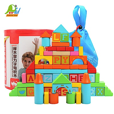 Playful Toys 頑玩具 圓筒木製字母積木