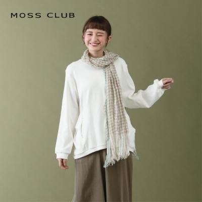 【MOSS CLUB】小清新長袖棉質-上衣(二色)