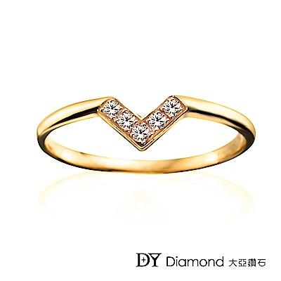 DY Diamond 大亞鑽石 L.Y.A輕珠寶 18黃K金 心戀 鑽石線戒