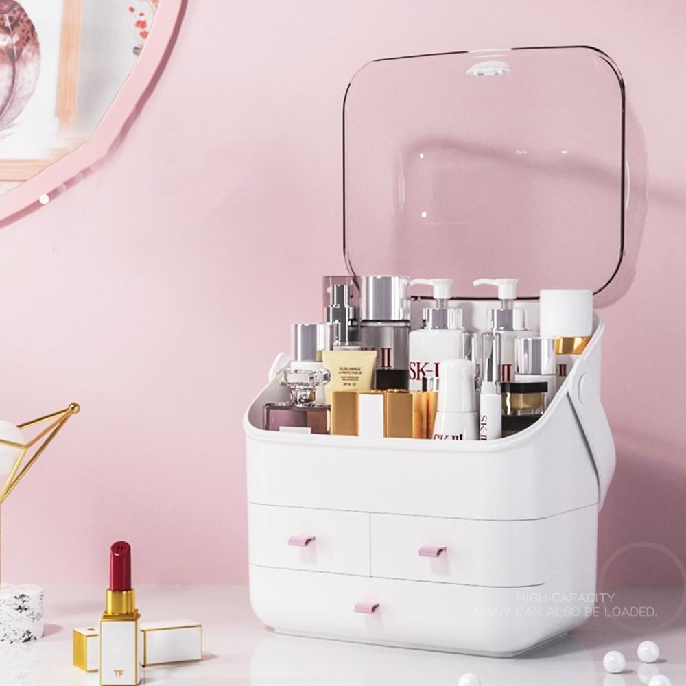 防水防塵可提化妝收納盒